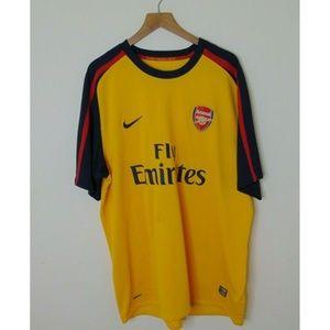 Nike XXL Arsenal Soccer Football Jersey Yellow